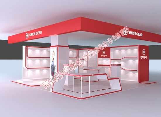 瑞士军刀箱包展柜设计
