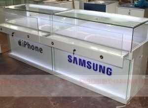 苹果三星手机展柜案例