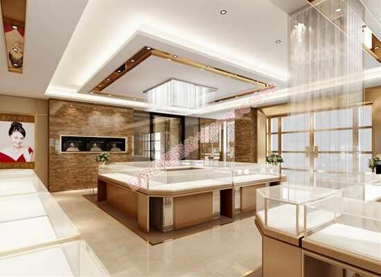 高端珠宝展柜厂家设计师,如何搭配珠宝展柜效果图颜色