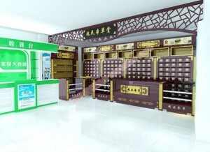 药店柜台医药货架医药展柜制作设计