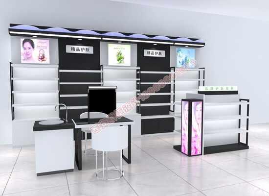 化妆品店面展柜设计 - 展示柜制作【商场内衣烤漆展柜