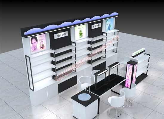化妆品展柜效果图