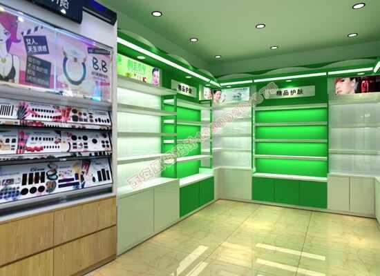 美妆化妆品店面展柜设计方案