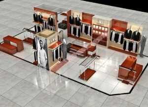 服装展柜设计男装展示柜