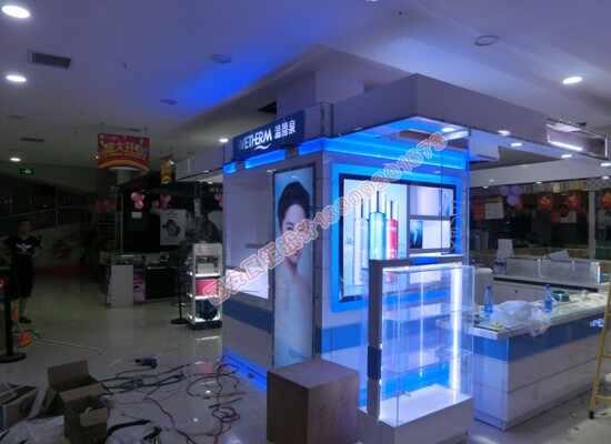 烤漆展柜商场展示柜温碧泉化妆品形象柜
