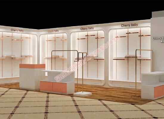 女装服装烤漆展示柜制作