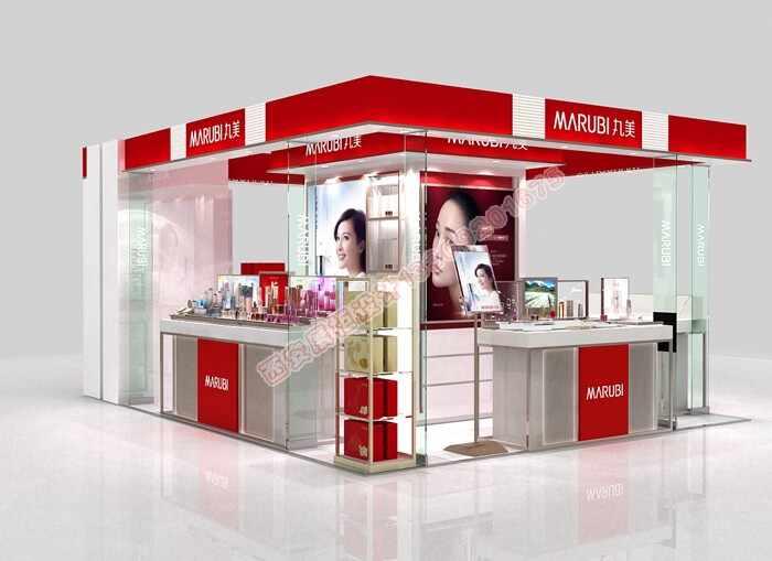丸美化妆品品牌合作商烤漆柜设计方案