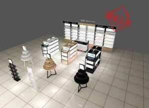 化妆品背柜设计方案