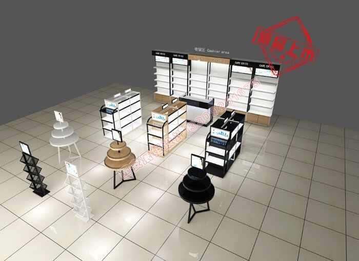 化妆品展柜背柜设计