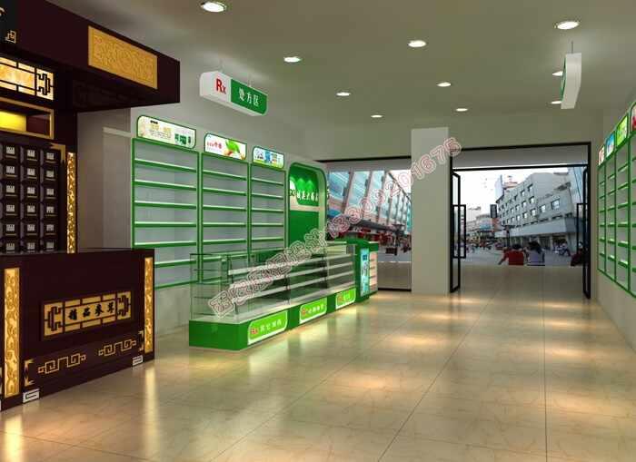 西安药店展柜设计制作公司