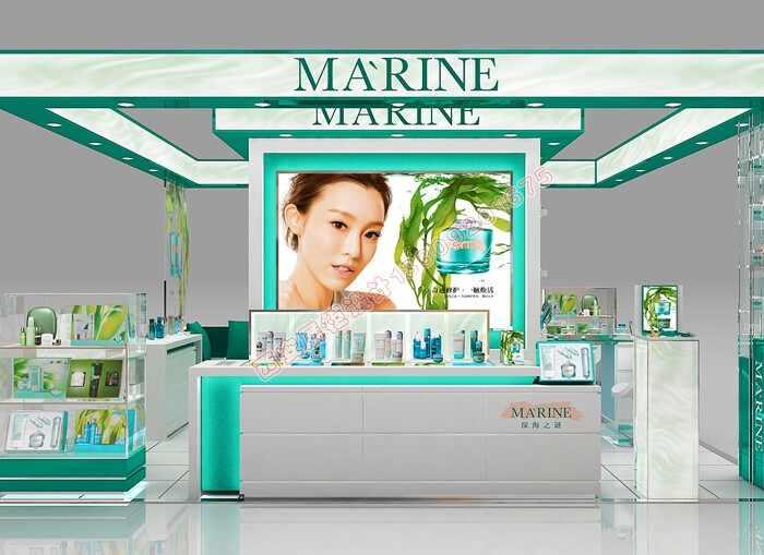 化妆品高端岛柜制作