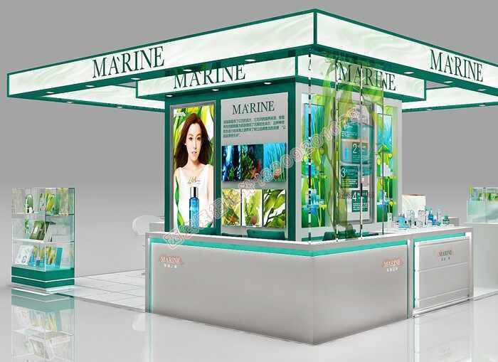 商场化妆品烤漆展柜设计方案