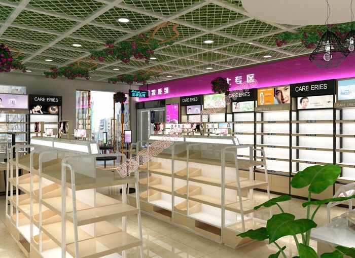 化妆品店面烤漆展柜设计方案