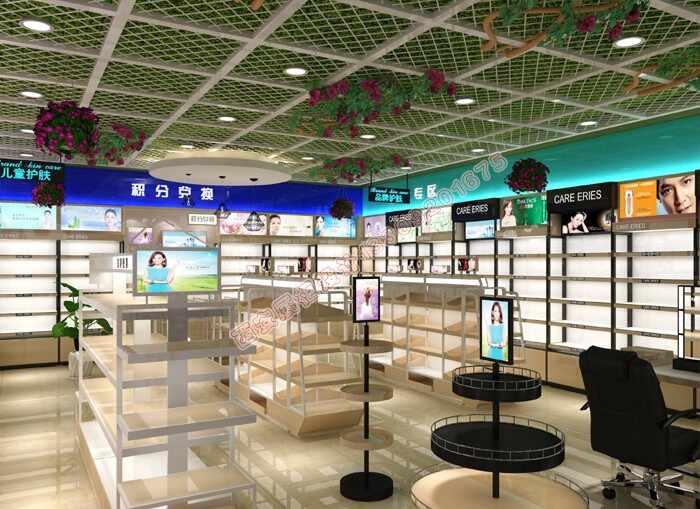 西安化妆品烤漆展柜厂