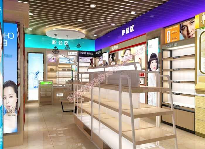 新款化妆品店面烤漆展柜设计方案
