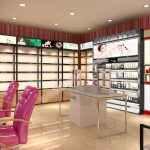 化妆品小店装修展柜设计方案