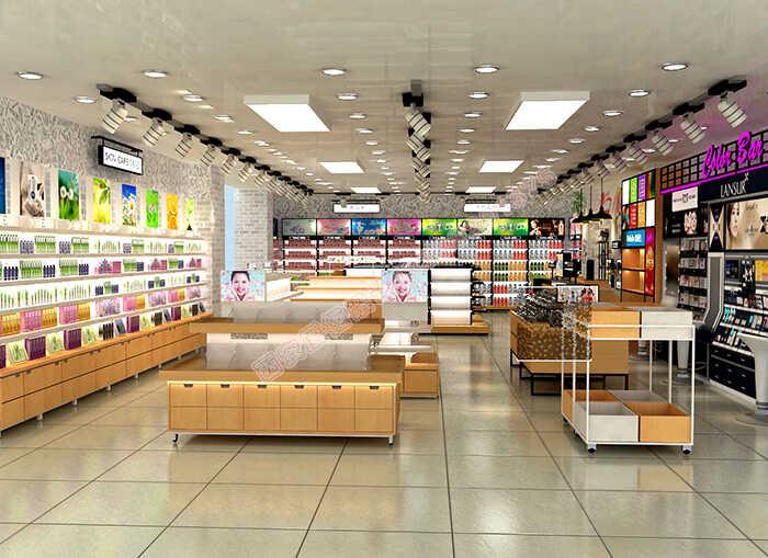 护肤品展柜生产厂家对于化妆品展柜设计店面的陈列思路