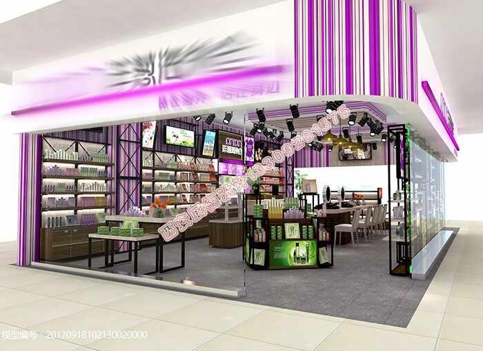 商场边厅烤漆展柜设计