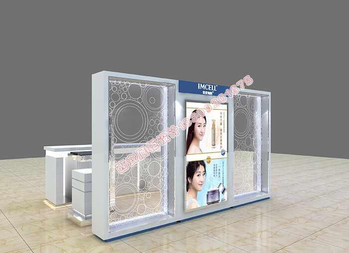 高端商场化妆品展示柜设计