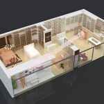 家纺床上用品烤漆展示柜展柜设计