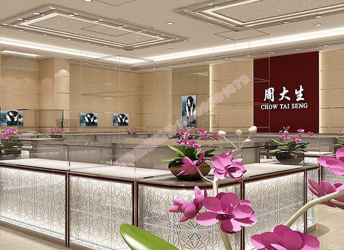 【珠宝展示柜定做厂家】对于珠宝展柜设计效果图的设计细节