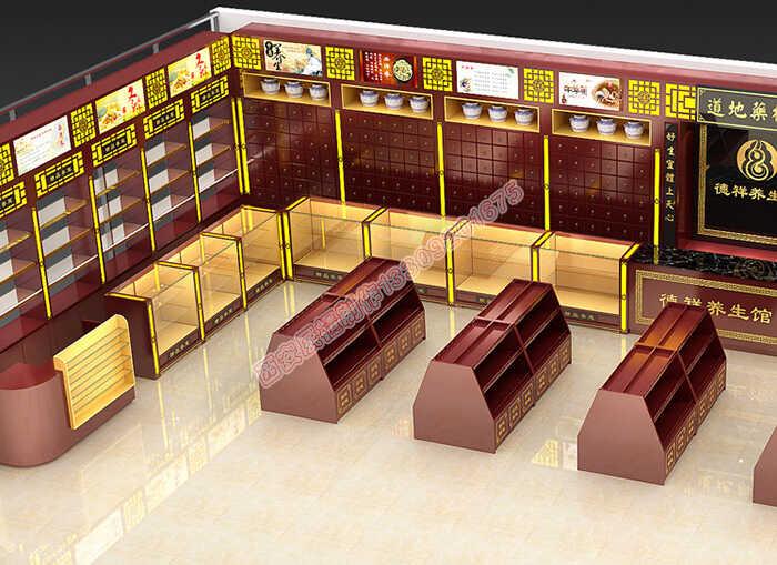 药房货架批发药店中药货柜定制客户应该如何选择中药展示柜台