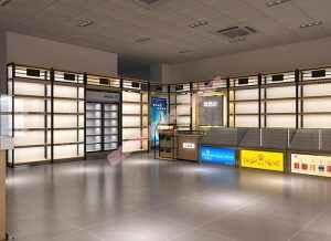 展柜定制厂家设计师,设计的铁木结合展柜为何这么受欢迎
