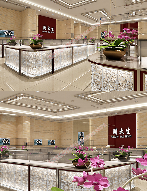 珠宝首饰展示架厂家设计时对于珠宝店铺如何布局