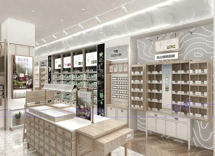 化妆品展柜厂设计师,在设计化妆品店面展柜一般都讲究那些要素
