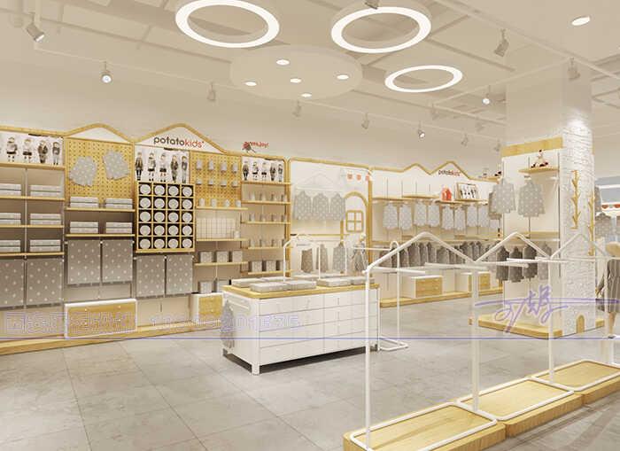 童装展柜设计中心,童装展示柜设计