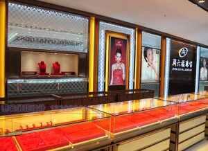 珠宝烤漆展柜制作案例,2018新款珠宝展柜厂制作案例