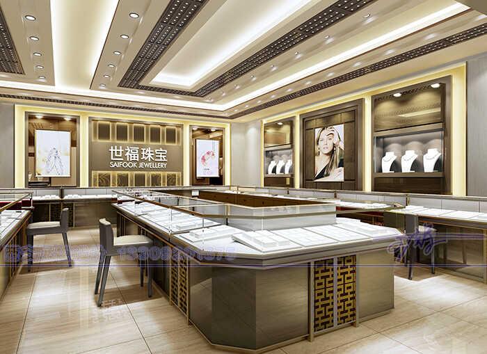 高档珠宝展柜设计方案