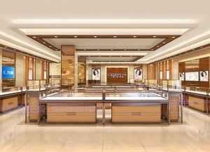 高端珠宝展柜设计方案烤漆展柜设计