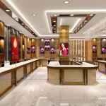 珠宝展柜设计案例,珠宝店展柜定做,珠宝展柜制作公司