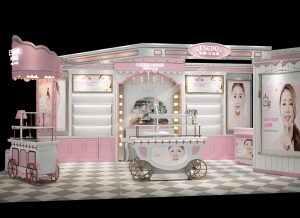 韩国爱丽公主屋化妆品展示柜设计方案