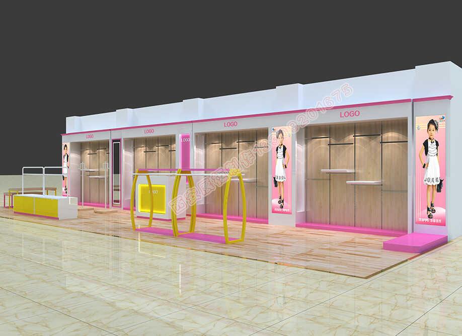 普朵米琪童装展示柜设计方案