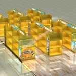 乐高玩具展示柜设计,玩具烤漆展柜设计