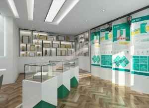 国家电网展厅展柜装修设计方案,展厅展示柜设计