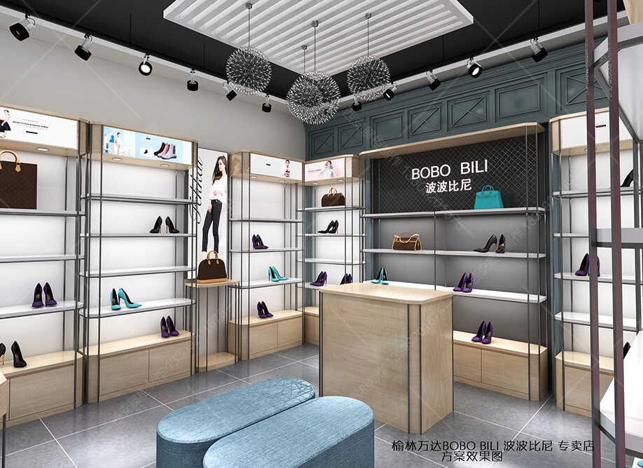 西安女鞋展柜设计