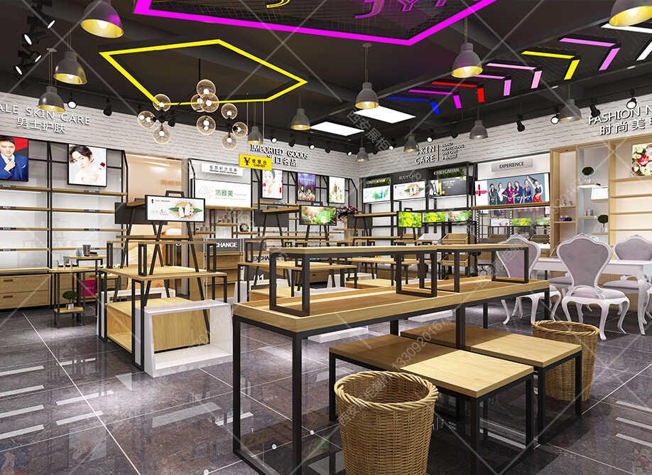 银川化妆品展柜厂对于化妆品专业展柜制作外观上的要求