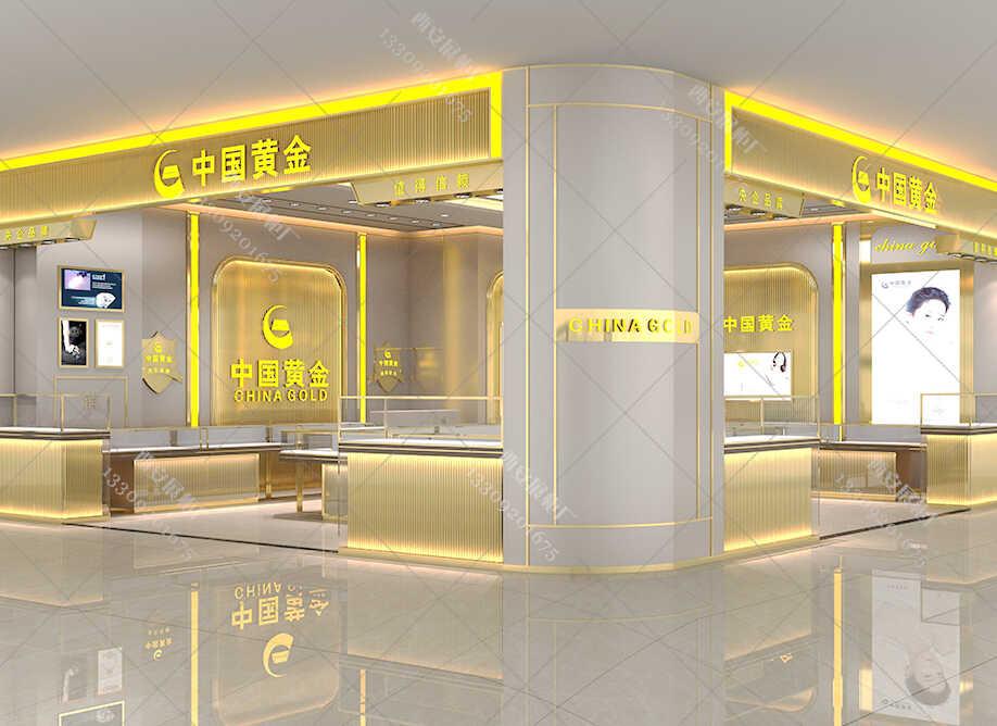 中国黄金珠宝展柜制作