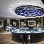 高端珠宝展厅烤漆展柜制作案例