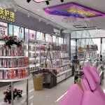 2019最新化妆品铁木结合展柜设计方案