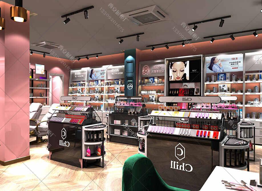 客户选择展示柜厂家制化妆品展示柜的优势