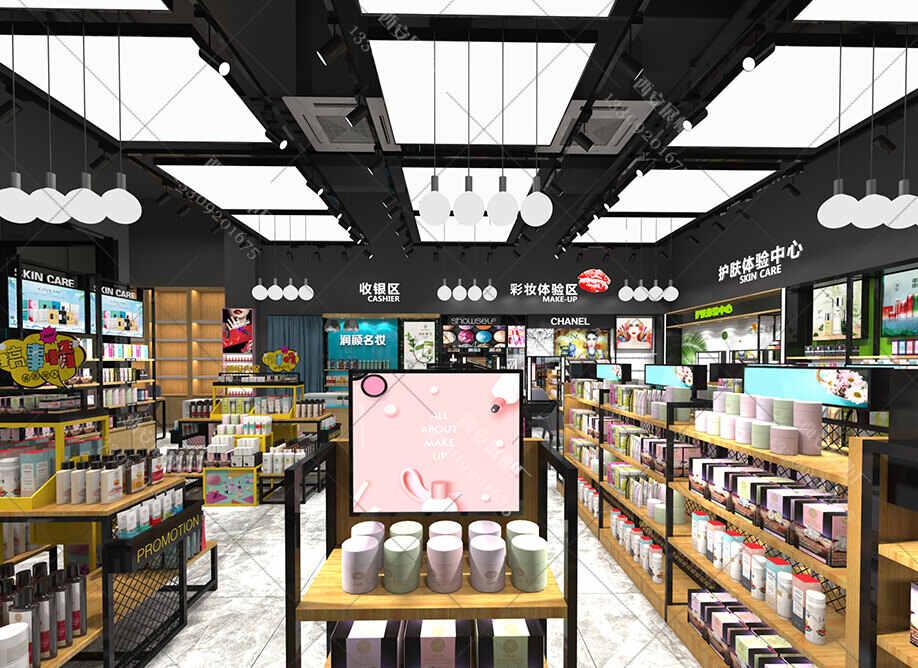 展柜制作厂家设计师对化妆品柜台设计,及商品陈列的3种方式
