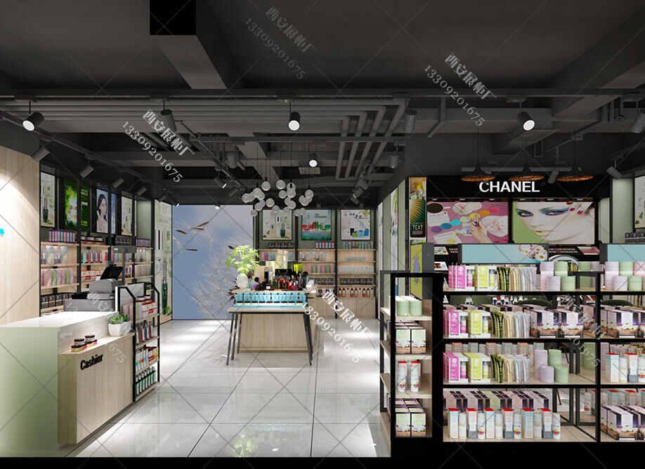 化妆品店货柜货架设计如何做到让消费者少翻动