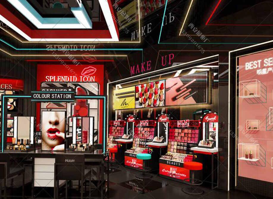 烤漆展柜厂设计师对化妆品烤柜设计的三种主流风格讲解