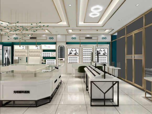 眼镜店面装修设计,用眼镜展柜设计让店面充满活力,让客户买单