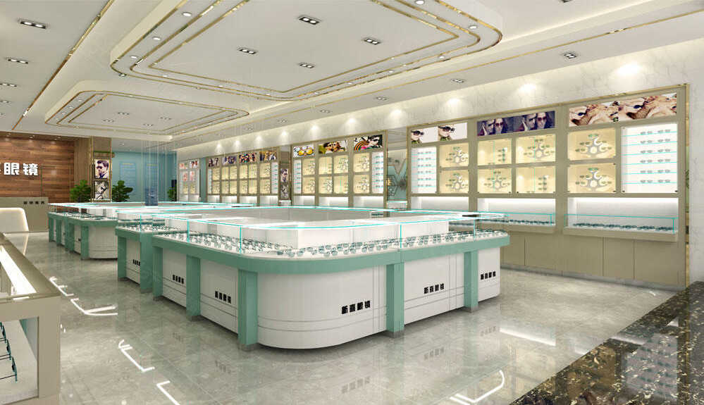 高端的眼镜店展柜,及设计整体的功能区分你知道多少