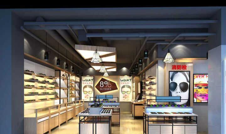 【西安眼镜展柜制作厂家】介绍客户如何选择眼镜店展柜公司